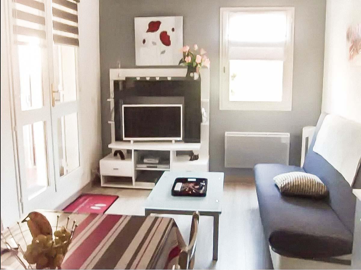 Salon télé canapé marron