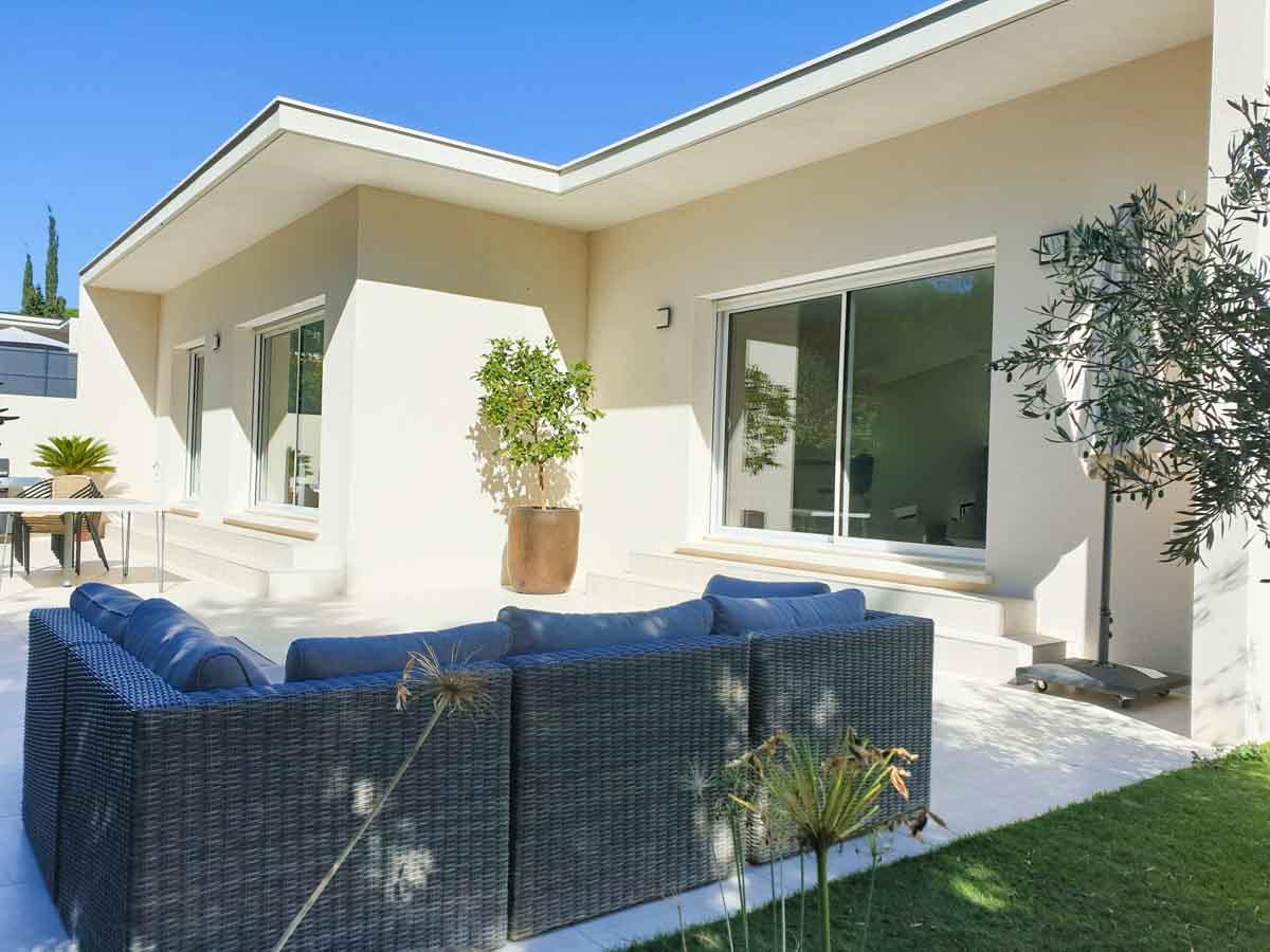 Maison terrasse canapé-transat