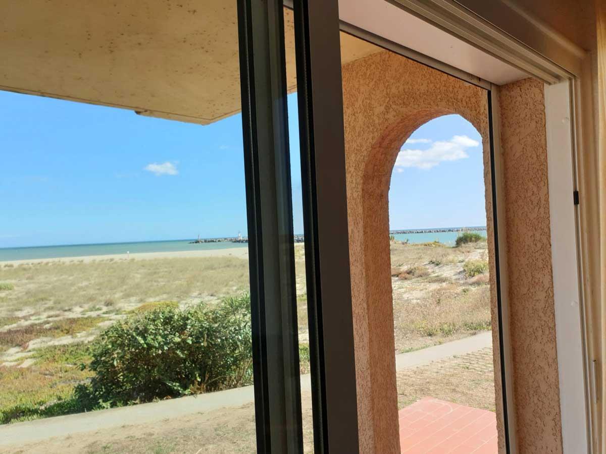 baie vitrée vue mer