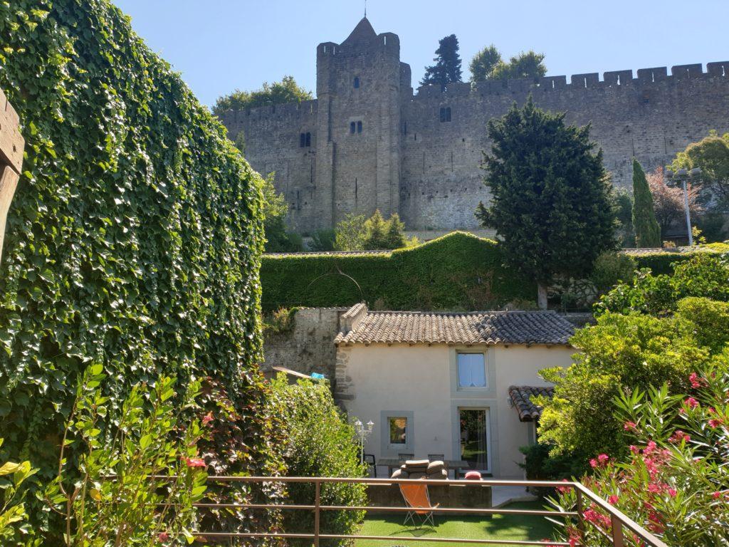 jardin vue rempart carcassonne